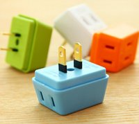 adapter electrical - Portable Electrical Outlet Wall Plug Travel Power Strip Triple Tap in Splitter A W V International Power Socket adapter