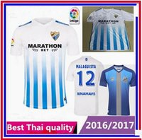 Wholesale new Malaga Club de jerseys men Spanish League custom name shirts
