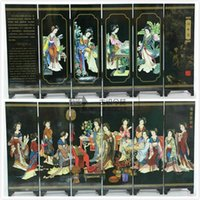 Wholesale Small lacquer screen furnishing Beauty diagram articles craft gift with Chinese characteristics
