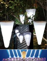 Wholesale Solar Hanging Lights Garden Wholesale - NEW 2017 High Quality Brand New Solar Power Garden lamp Cornet Cone LED Lamps Hanging Yard Lantern Outdoor Camping light MYY