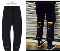 Wholesale Fashion OFF WHITE pants Virgil Abloh Sport Jogger Sweatpants Jogging Sweat pants Pyrex Version pants Pyrex Version