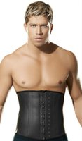 Wholesale Top Quality Two Layer Men s High grade Latex Rubber Corset Waist Training Body Cincher Corsets Slimming Shapewear S XL