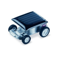 Wholesale Mini Solar Toy Car Worlds Smallest Solar Power Energy Racing Car Educational Gadget Kids Children Christmas Gift