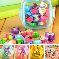 >3 years Fruit Fantastic 1 Box of Lovely Rubber Eraser Set Stationery Novelty Children Gift