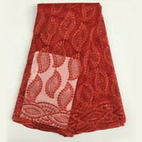 Wholesale PL2207 New design high quality African Nigerin bridal lace fabric for wedding party dress making yards piece