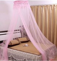Wholesale MultiColor Princess Elegant Lace Bed Mosquito Netting Mesh Canopy Round Dome Net