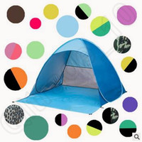 Wholesale 19 Colors Persons Fishing Tent Outdoor Automatic Pop Up Instant Portable Beach Tent Anti UV Beach Tent Beach Shelter CCA5580