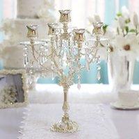 Style européen, chandelier romantique dîner décor candélabre, candélabres, alliage de zinc nouvelle 5 bougeoirs lumières