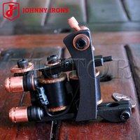 Wholesale JOHNNY IRONS Cast Iron MJ06 Liner Tattoo Machines Tattoo Gun Wraps mm uF Professional Quality