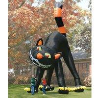 animated giant - 20ft Lovely Animated Giant Inflatable Black Cat for Halloween Decoration v Hz or v Hz