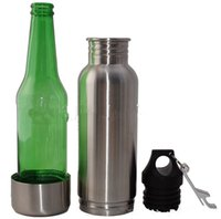 Wholesale Beer Armour Koozie Keeper Stainless Steel keeper Bottle Armour Bottle Koozie Insulator with Bottle Opener OOA611
