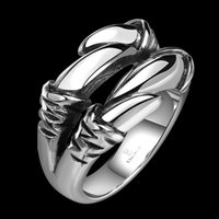 Wholesale The New Hot Fashion Personality Mens Titanium Talons Punk Ring Free Delivery