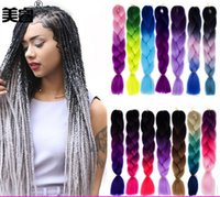 Wholesale Kanekalon Ombre Braiding hair synthetic Crochet braids twist inch g Ombre two tone Jumbo braid hair extensions more colors