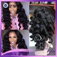 Wholesale 7A Top Quality Unprocessed Human Hair Wig With Baby Hair Peruvian Virgin Human Body Wave Frontal Lace Wig
