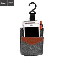 Wholesale HOCO Universal Mobile Phone Holders Car Phone Holder Vehicle Bag Hook Mobile Phone Pocket Stand for Samsung HTC Huawei With Retail Package