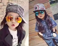 2017 Los vidrios de Sun del diseñador de la marca de fábrica para los niños refrescan el espejo Reflective Metal los vidrios de los niños de las gafas de sol de los cabritos UV400 b639