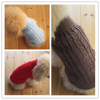 Wholesale Hot Sale Pet Dog Cat Clothes Winter Warm Sweater Knitwear for Dogs Puppy Coat Apparel Habits pour chiens JF