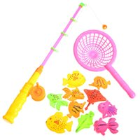 baby games net - Set Magnetic Fishing Toy Game Set Kids pieces Rod net D Fish Fancy Baby Bath Educational Toys