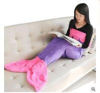 best tail bag - Best Sellers Shark Mermaid blanket Sleeping bag Mermaid tail Double flannel blanket for children