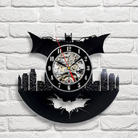 Wholesale Batman Art Vinyl Wall Clock Gift Room Modern Home Record Vintage Decoration