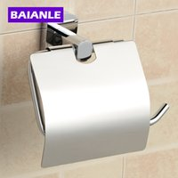 Wholesale Bathroom Accessories Products Solid Copper Toilet Paper Holder Roll Holder paper Holder With Cover