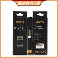 Precio de Atlantis v2 bobinas-Aspire Atlantis V2 Clone de la cabeza de la bobina Reemplazo de las bobinas de ohmios de repuesto atlantis tanque atomizador e cabezas cig Clearomizers DHL libre