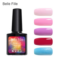 belle nail art - BELLE FELLE Semi Permanent Choose Any From Colors Gelpolish Soak Off Uv Lamp Nail Art Nail Gel Polish