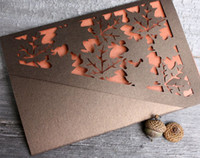 autumn wedding invitation - 2016 Autumn Leaves Lasercut wedding invitations Woodland Lasercut Save the Date Romantic pocket sleeves with inserts
