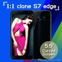 Wholesale Goophone Android Dual SIM Clone S7 s7 edge MTK6580 bit Quad core Show Octa core GB RAM Smartphone inch g lte GB RAM GB ROM