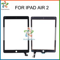 Wholesale For iPad Air Touch Screen Glass Screen Digitizer Without Home Button IC Front Glass For ipad with Tools Black White