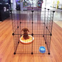Wholesale Variety Of Styles Solid Fashion Variety Combination Lattice Iron Cage Suitable For Pets Fence White Cage