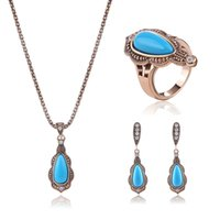 Wholesale 3 Set Women Crystal Rhinestone Wedding Party Jewelry Sets Gold Plated Ring Pendant Necklace Earrings Styles