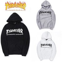 Wholesale Men Streetwear Thrasher Hoodie Tracksuit Moletom Skate Sudaderas Mens hoodies and sweatshirt magazine skateboard trasher jumper