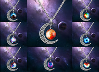 Wholesale Europe and the United States high quality moon Galaxy moon alloy necklace