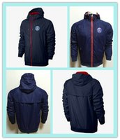 Wholesale Hot Sell Paris Saint Germain Hoody Sweatshirt Hoodies Fashion Zipper Sportsware Tracksuits hooded Men s Dark Blue Windbreaker jacket
