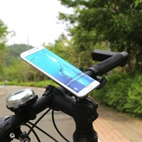 Wholesale for all Smartphone Mobile Phone Mount Ride Holder Stands Bicycle Mountain Bike Holder Handlebar Clip Cycling GPS Bracket Support