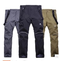 Wholesale The new ski pants men with thick waterproof warm winter outdoor removable fleece single board ski pants