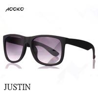 Wholesale AOOKO HOT Gardient Justin Retro g Sunglasses G15 brown gray UV400 Men Women Draving Brand Designer Fashion Lunette Occhiali Sun Glasses