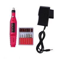 acrylic nails machine - Nail Art Drill Treatments Kit set Machine Electric File Buffer Kits Acrylics File Pedicure Hands Nails Repair with Charger