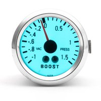 Wholesale Brand New Inch mm New Chrome Rim Electro Mechanical Luminescent Automobile Boost Gauge to