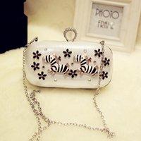 Wholesale The new diamond encrusted dinner bag handbag chain shoulder aslant bridesmaid diamond banquet package bag
