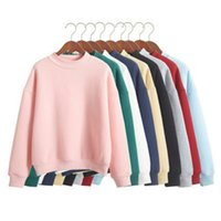 Wholesale Plus Size XXL Cute Women Hoodies Pullover colors Autumn Coat Winter Loose Fleece Thick Knit Sweatshirt Female