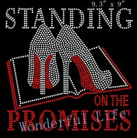 bible promises - Standing on the Promises Bible Heels Stiletto hotfix Rhinestone Transfer Design for garment