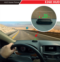 Wholesale Car Head Up Display E260 Inch Auto HUD Projector OBD II Warning System Vehicle Speeding Warning MPH with Anti slip Pad Fuel
