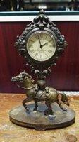 antique horse clocks - Decorative horse manual sculpture copper can use mechanical clock