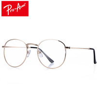 Grossiste- Pro Acme Super Light-weight Round Gold Frame Lunettes Original Clear Lens Glasses Retro Circling Frame Lunettes Femme CC0874