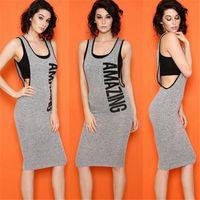 Midi Dresses adult jumpers - Women Casual Midi Dresses Scoop Neck Sheath Sleeveless Knee Length Casual Dresses Jumper Skirt Plain Casual Dresses