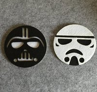 Wholesale New Set Cute Home Table Cup Star Wars Mat Creative Decor Placemat For Table Non woven Cartoon Coaster