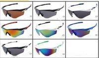Vidrios de Sun del marco fresco del diseñador de la marca de fábrica que completa un ciclo los vidrios de los hombres retros del deporte al aire libre de la vendimia de los vidrios de sol 8 colores