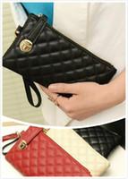 Wholesale 2017 New European style Women Ladies Day Clutch Purse Long Leather bags Zipper Wallet